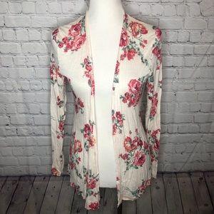 Thin Floral Cardigan